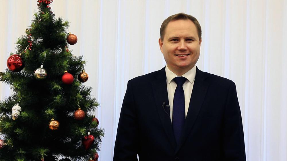 Новогоднее поздравление 2021 | Александр Забайкин, глава Курортного района Санкт-Петербурга