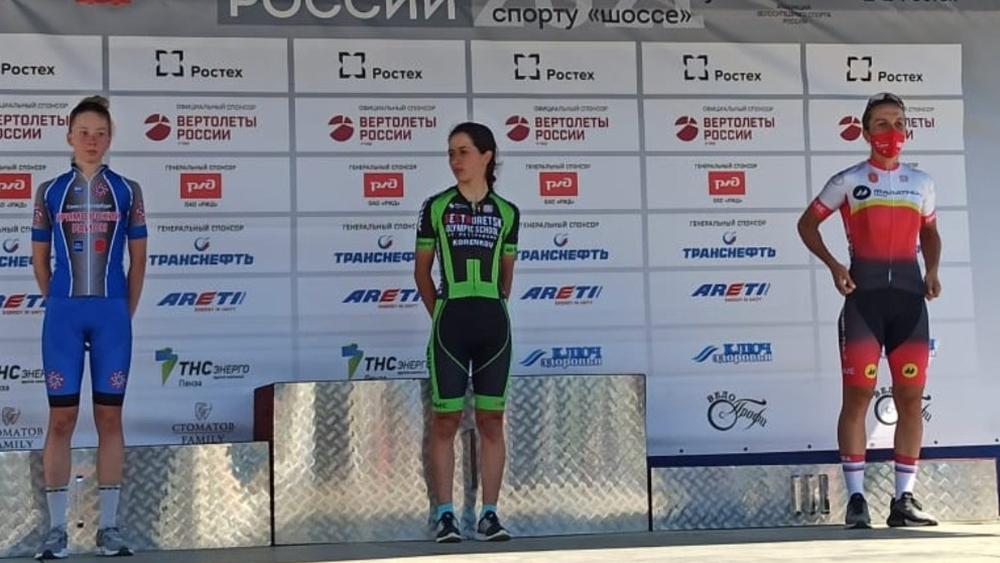 Велосипедистка из Курортного района заняла первое место в групповой гонке