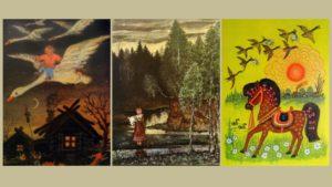 В библиотеке им. С.Михалкова открылась выставка «В гостях у Васнецовых»