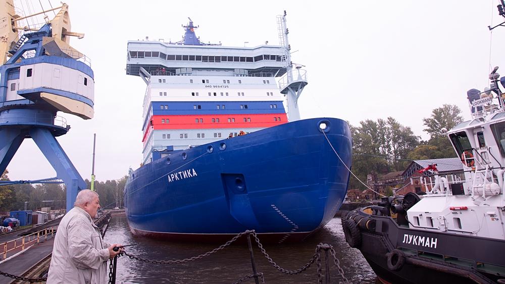 «Арктика» покинула док Морского завода