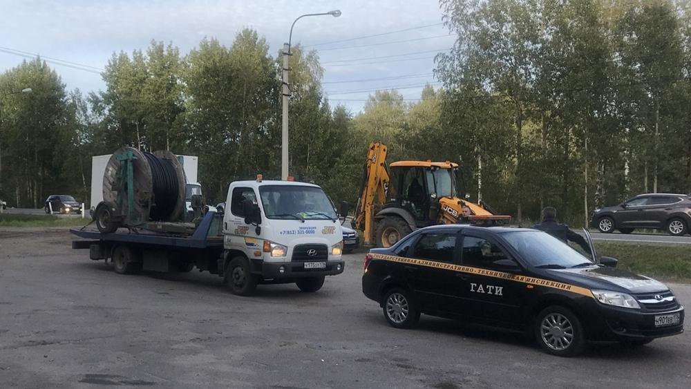 Сотрудники ГАТИ пресекли незаконную прокладку кабельной линии в Сестрорецке